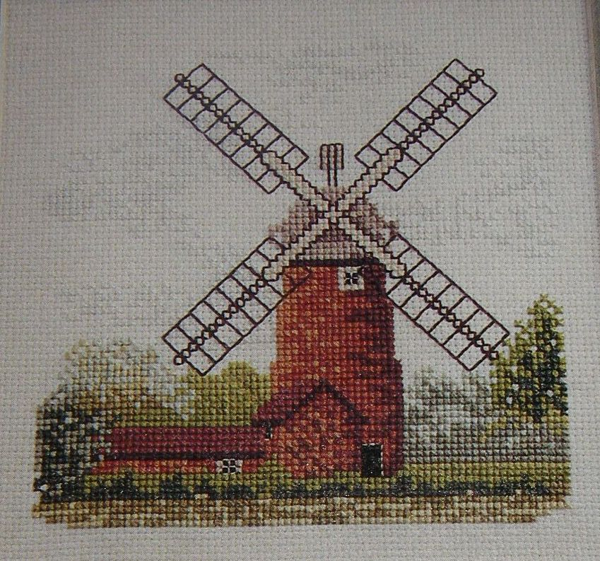 Brick Tower Windmill ~ Cross Stitch Chart