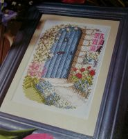 Blue Cottage Door ~ Cross Stitch Chart