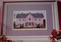 Pink Regency Gothic Villa ~ Cross Stitch Chart