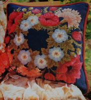 Carnations and Anemones Cushion ~ Needlepoint Pattern