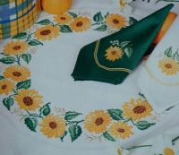 Sunflower Table Cloth Centre & Napkins ~ Cross Stitch Chart