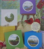 Four Summer Landscape Scene Cards ~ Cross Stitch Charts