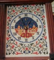 Medieval Book of Hours Clock Face ~ Cross Stitch Chart