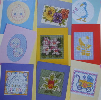 Six Baby Cards & Six Flower Cards ~ Cross Stitch Charts