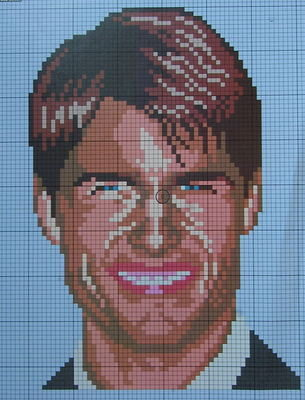 Tom Cruise: Hollywood Actor ~ Cross Stitch Chart