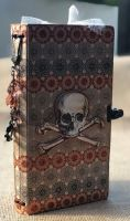 *vintage Halloween* OOAK Handmade Fauxdori Junk Journal Travelers Notebook Photo Memory Album