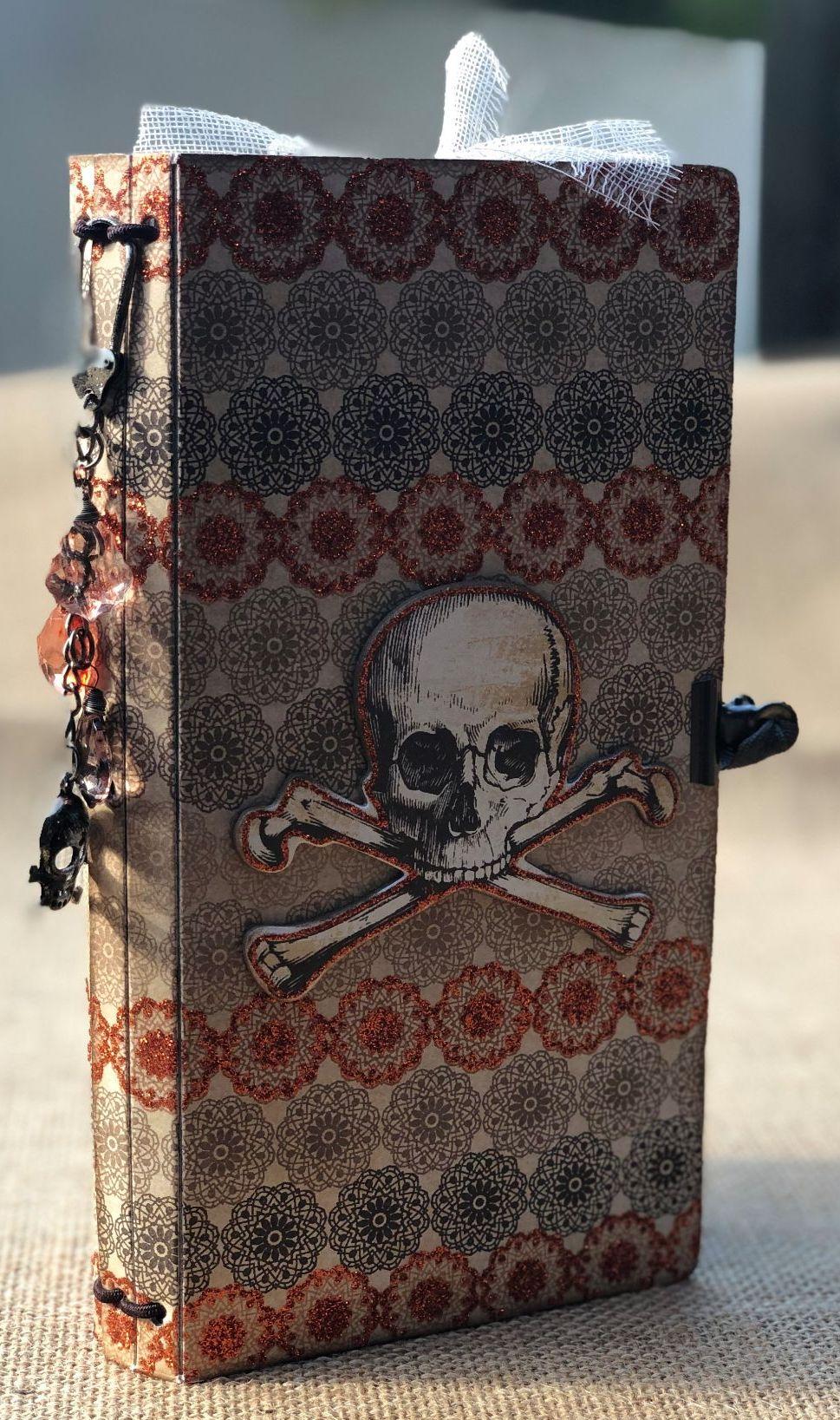*vintage Halloween* OOAK Handmade Fauxdori Junk Journal Travelers Notebook