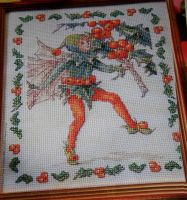 DMC: Holly Flower Fairy ~ Flower Fairies ~ Cross Stitch Chart