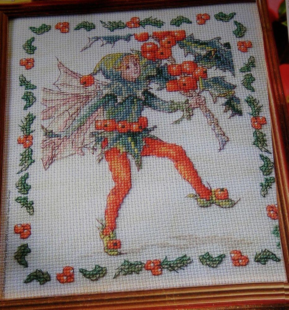 Holly Flower Fairy ~ Flower Fairies ~ Cross Stitch Chart
