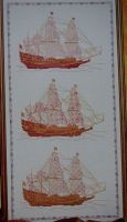 Three Ships ~ Cross Stitch & Blackwork Embroidery Pattern