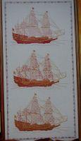 Three Ships ~ Cross Stitch & Blackwork Embroidery Pattern