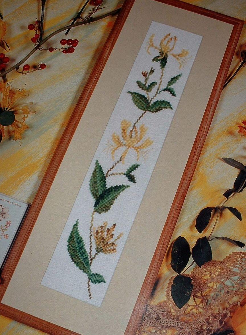 Countryside Wildflower: Honeysuckle ~ Cross Stitch Chart