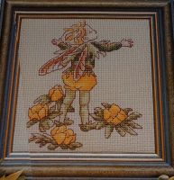 Winter Aconite Flower Fairy ~ Flower Fairies ~ Cross Stitch Chart