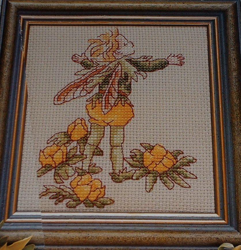 Winter Aconite Flower Fairy ~ Flower Fairies ~ Cross Stitch Chart