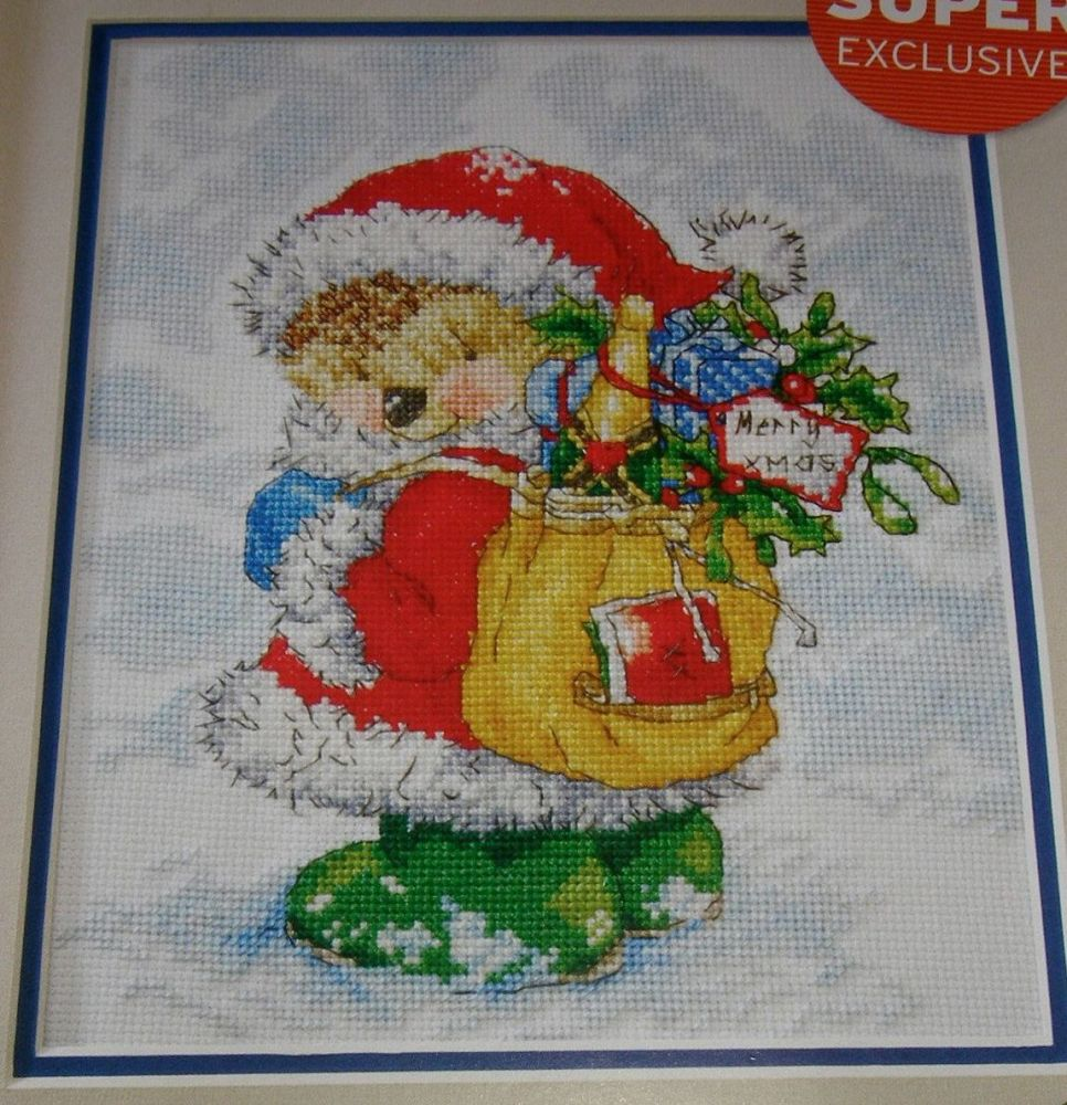 Country Companions: Ed the Hedgehog as Santa ~ Cross Stitch Chart