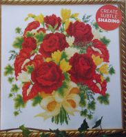 Bouquet of Roses & Freesias ~ Cross Stitch Chart