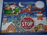 Santa Stop Here ~ Cross Stitch Chart