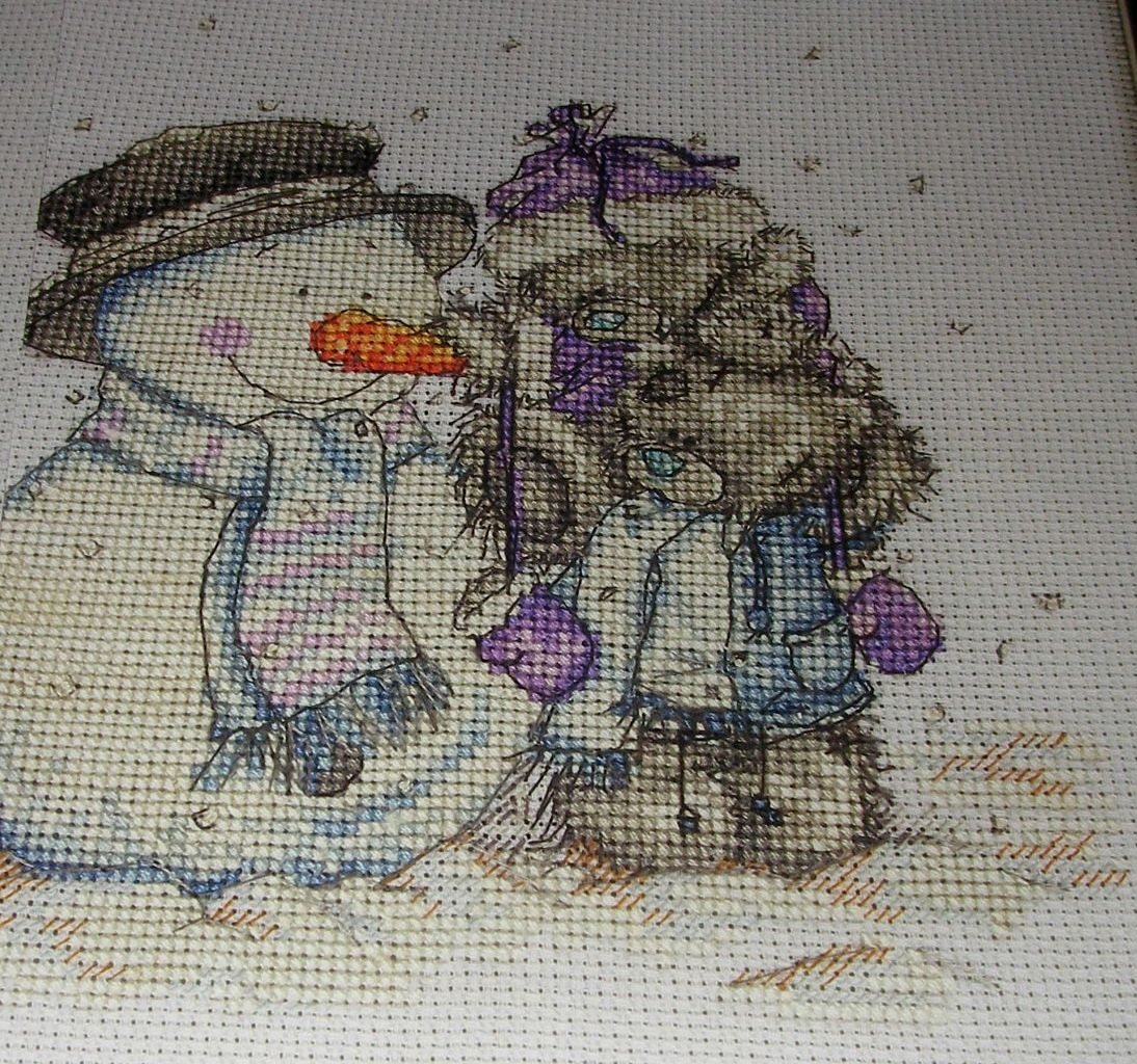 Tatty Teddies Building a Snowman ~ Cross Stitch Chart