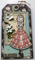 Be Authentic Annie ~ Embellished Tag Wall Hanging/ Home Decor
