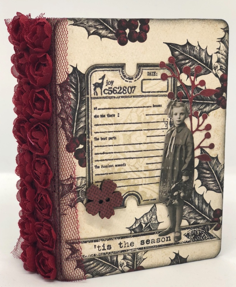 *tis the season* OOAK Handmade Mini Christmas Fauxdori Junk Journal Travele