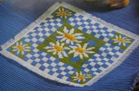 Daisy Place Mat & Egg Cosy ~ Cross Stitch Chart