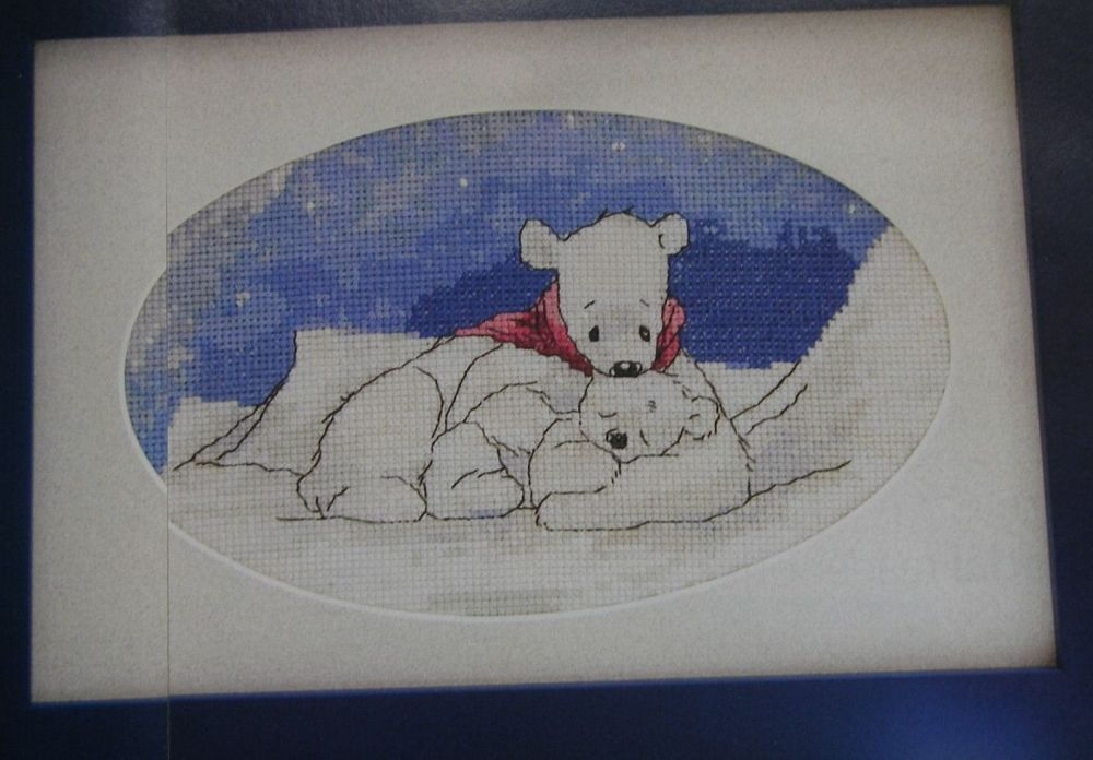 Polar Bears at Night ~ Cross Stitch Chart
