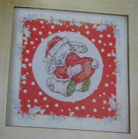Somebunny To Love Christmas Picture ~ Mini Cross Stitch Kit