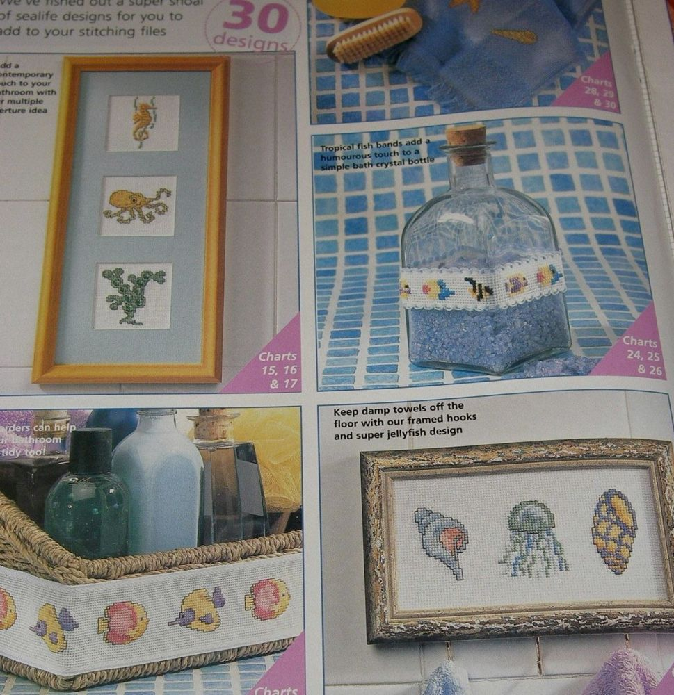 30 Sealife Designs ~ Cross Stitch Charts