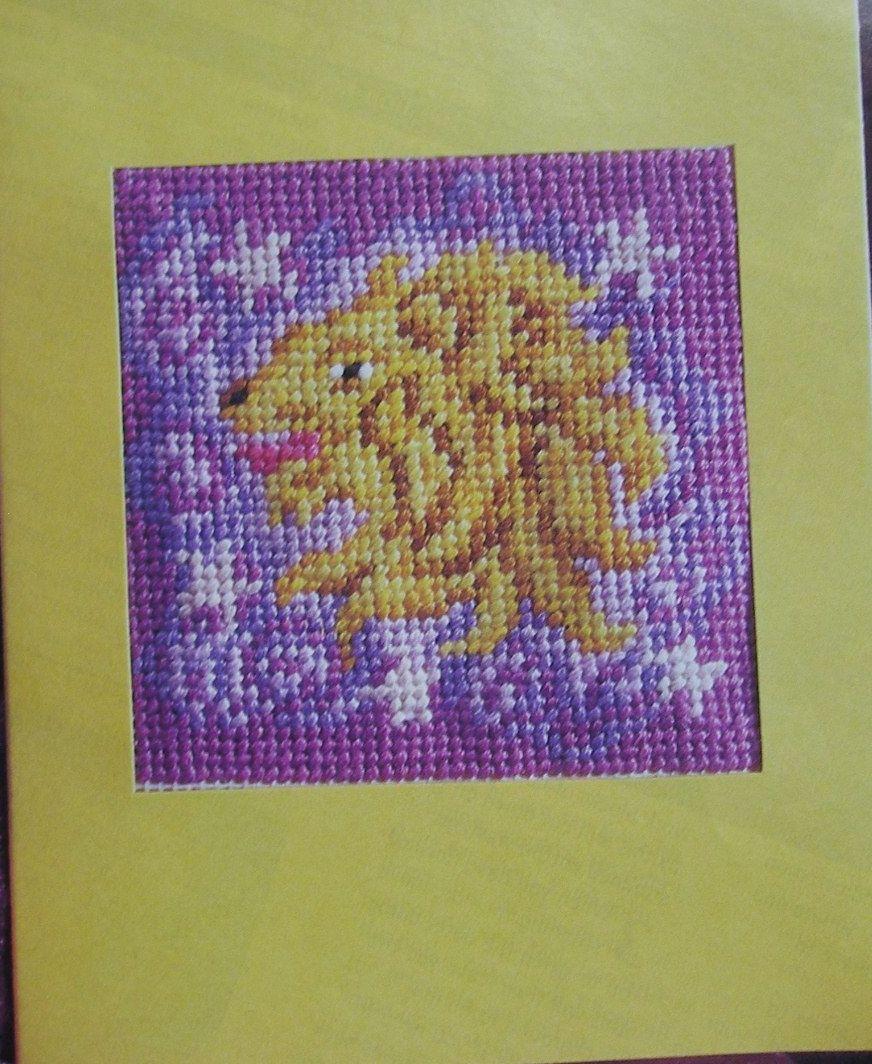 Zodiac Sign: Leo Card ~ Needlepoint Pattern