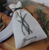 Rosemary Herb Sachet ~ Embroidery Pattern