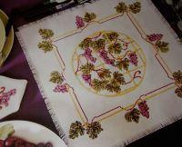 Grapevine Napkin and Placemats ~ Cross Stitch Chart