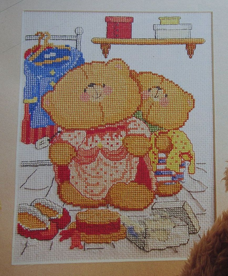Forever Friends Bears Dressing Up ~ Cross Stitch Chart