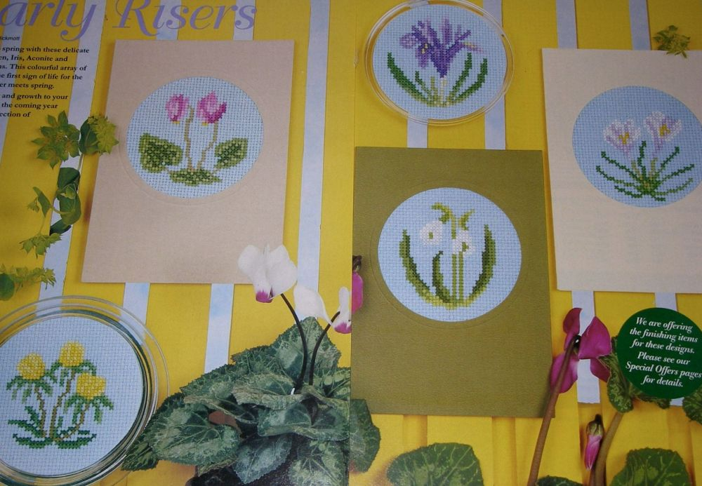 First Signs of Spring ~ Five Cross Stitch Charts