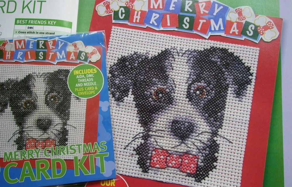 DMC Best Friends Puppy Card ~ Mini Cross Stitch Kit