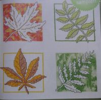 Changing Colours of Autumn Leaves Assisi & Cross Stitch Sampler ~ Cross Stitch Chart