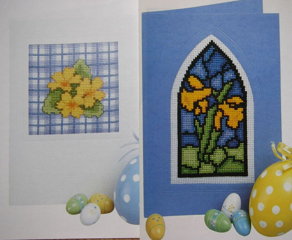 Four Assorted Easter Cards ~ Cross Stitch Charts