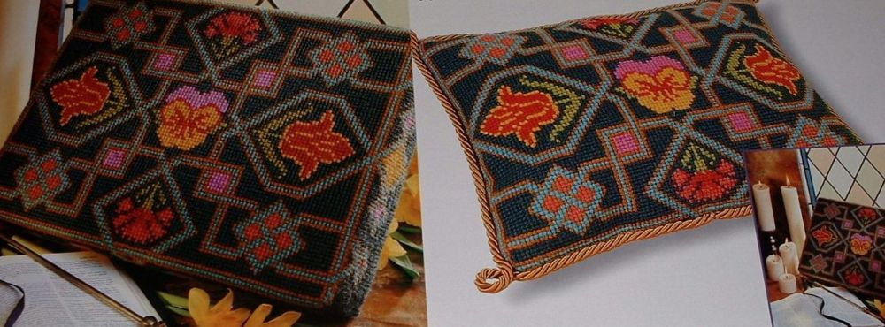 Church Kneeler / Cushion ~ Canvaswork Pattern