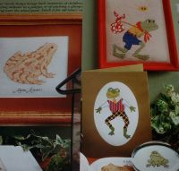 Nature Study & Cartoon Style Frogs ~ Four Cross Stitch Charts