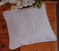 Basket of Flowers - Candlewicking Embroidery Cushion ~ Candlewicking Pattern
