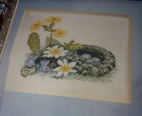 Spring Nest Building ~ Cross Stitch Chart