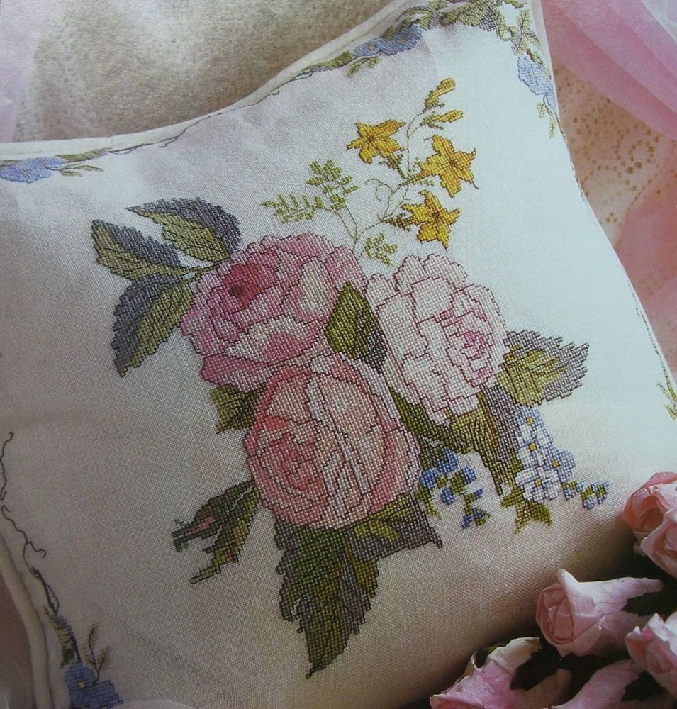 Summer Flowers Cushion ~ Cross Stitch Chart
