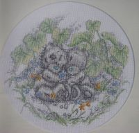 Tatty Teddies Hugging ~ Cross Stitch Chart