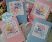 Four Floral Get Well Soon Cards ~ Cross Stitch Charts