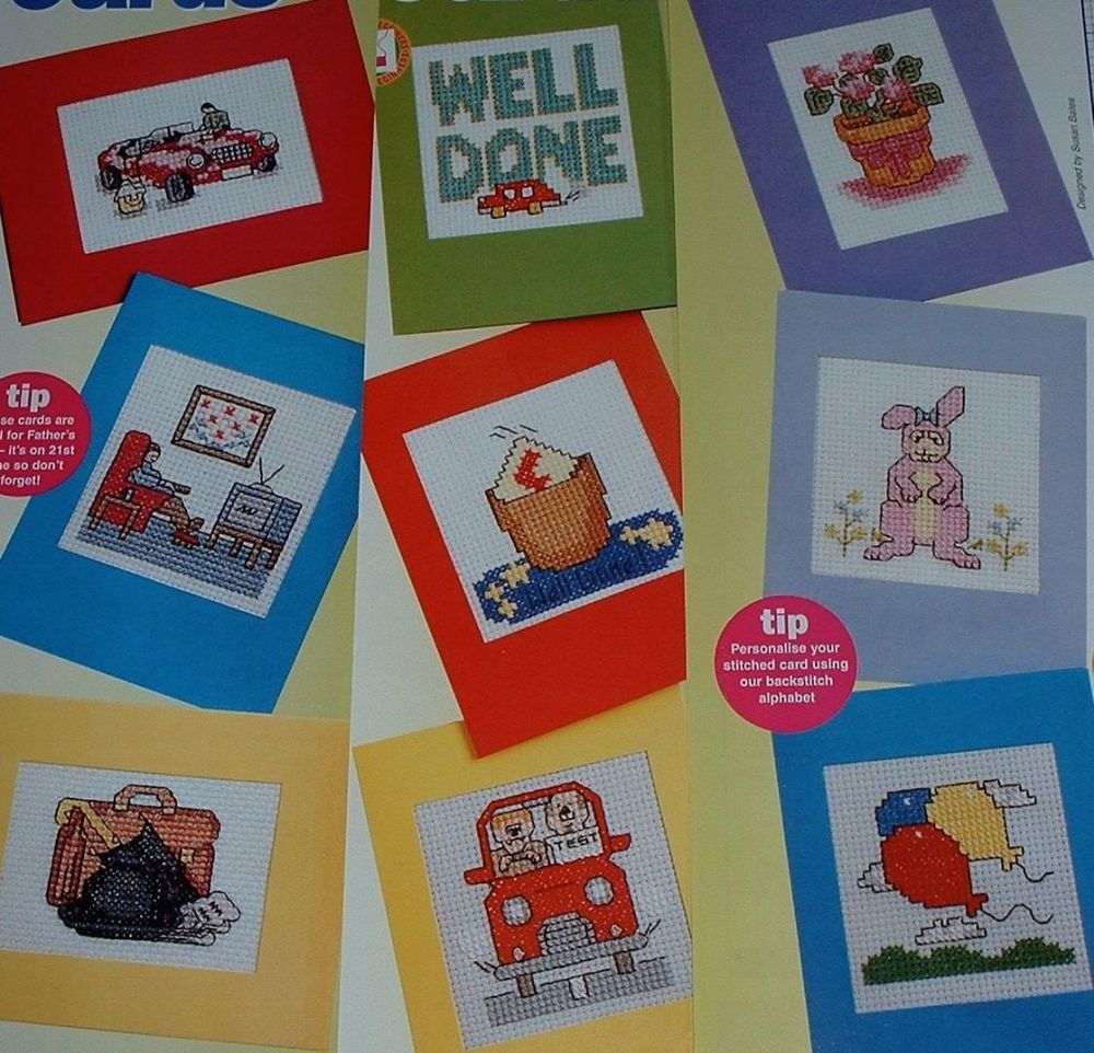 Male, Driving Test & General Cards ~ Twelve Cross Stitch Charts
