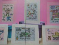 Six Assorted Celebration Cards ~ Cross Stitch Charts