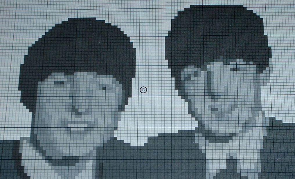 John Lennon & Paul McCartney ~ Cross Stitch Chart