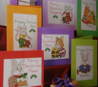 Animal Family Christmas Cards ~ SIX Charts