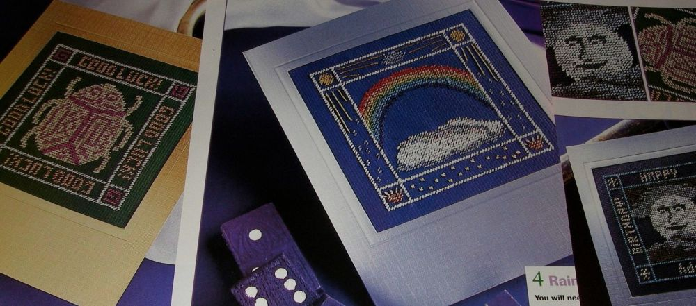 Cosmic Sun Moon & Star Cards ~ FIVE Cross Stitch Charts