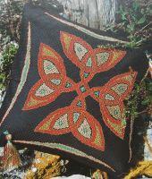 Celtic Knot Metallic Cushion ~ Cross Stitch Chart
