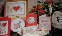 Valentine Hearts Cupid Pig ~ Seven Cross Stitch Charts